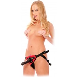 Vibratore Dildo Strap-On Indossabile da Donna 17 cm Nero in PVC Flessibile con Bullet Vibrante Interno ad Imbragatura, Pipedream
