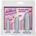 Kit 3 Falli Anali Realistici in Jelly Trasparente, Small, Medium e Large, Doc Johnson