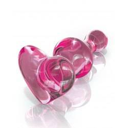 Fallo Butt Plug Anale in Vetro, DIldo a Forma di Cuore ICICLES 75 Pipedream