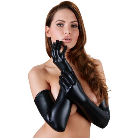 Guanti Lunghi per Donna effetto Latex, Sexy, Cottelli Collection
