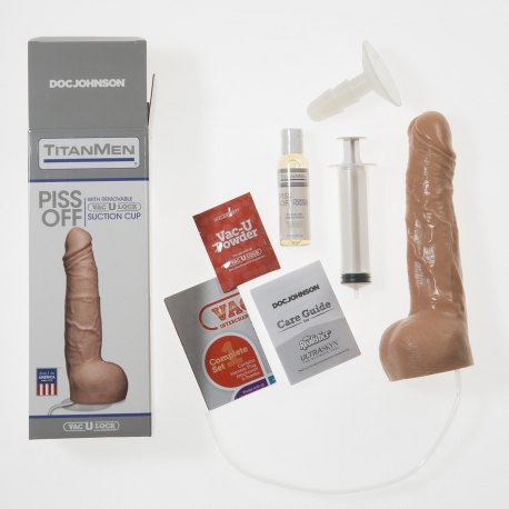 Fallo Squirt Piss Off Urinante con Ventosa Vac-U-Lock, Dildo che Urina, Doc Johnson